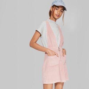 Wild Fable | Pink Corduroy Cross Back Dress L